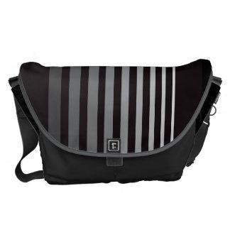 Modern gradient gray designer stripes courier bags