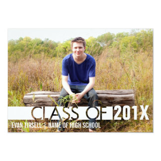 """Modern Graduate Photo Announcement and Party 5"""" X 7"""" Invitation Card"""