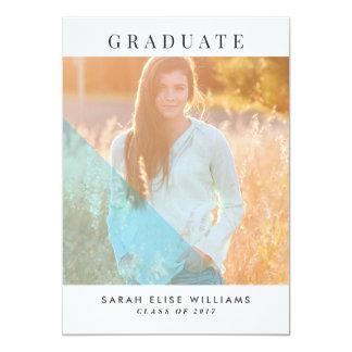 Modern Graduation Invitations | Blue