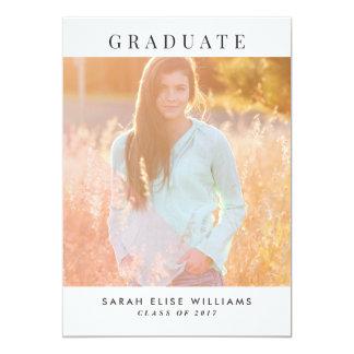 Modern Graduation Invitations | Blush Pink