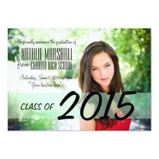 """Modern Graduation Party Announcement Invite 5"""" X 7"""" Invitation Card"""