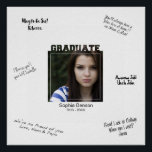 "Modern Graduation Photo Signature Message Mat Poster<br><div class=""desc"">Have friends and family write their own congrats Grad messages on the edges of this custom photo poster. BE SURE TO DELETE THE SAMPLE SIGNATURE MAT BEFORE ORDERING and then the space becomes white so that you can use a permanent marker to write your own well wishes. Easily upload your...</div>"