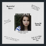 """Modern Graduation Photo Signature Message Mat Poster<br><div class=""""desc"""">Have friends and family write their own congrats Grad messages on the edges of this custom photo poster. BE SURE TO DELETE THE SAMPLE SIGNATURE MAT BEFORE ORDERING and then the space becomes white so that you can use a permanent marker to write your own well wishes. Easily upload your...</div>"""