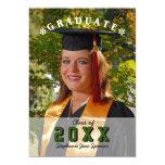 "Modern Graduation Photograph Party Invitation 5"" X 7"" Invitation Card"