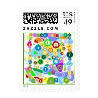Modern Graffti Postage Stamps