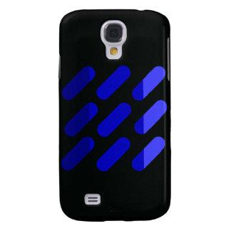 Modern grapgic art Black and Blue Galaxy S4 Cases