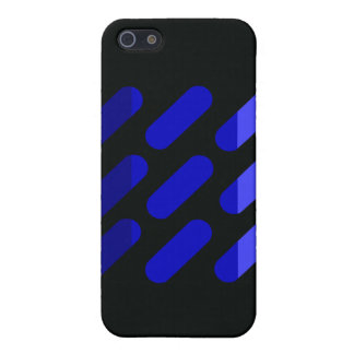 Modern grapgic art Black and Blue iPhone 5 Cases
