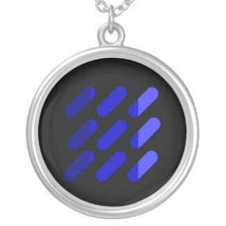 Modern grapgic art Black and Blue Necklace