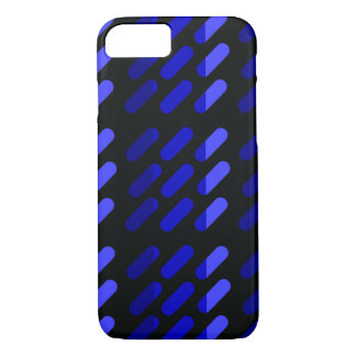 Modern graphic art  Black and Blue iPhone 8/7 Case