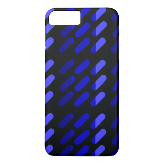 Modern graphic art  Black and Blue iPhone 8 Plus/7 Plus Case