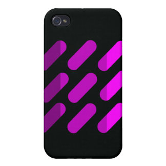 Modern graphic art  Black and Pink iPhone case