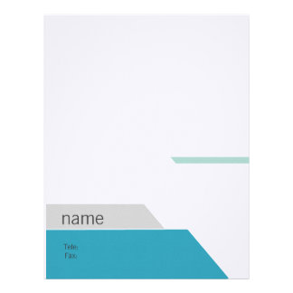 Modern graphic business sets letterhead