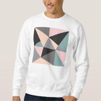 modern,graphic,design,black,pink,mint,cheker,trend pull over sweatshirt