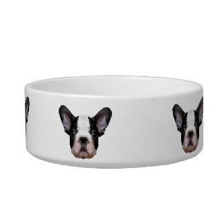 Modern Graphic French Bulldog Pet Bowl (Low Poly!)