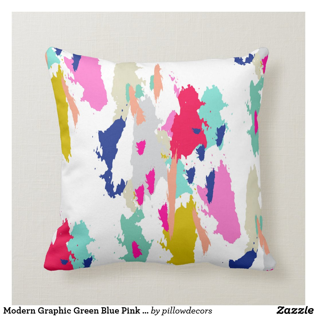 Bold and Bright Pretty Throw Pillows