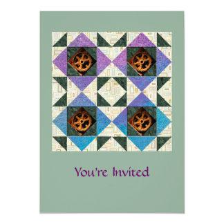 Modern Graphic Hourglass Purple, Blue Green Card
