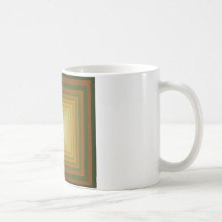 Modern Graphic Square Optical Illusion Art Coffee Mug