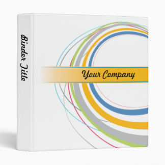 Modern graphics white company binder