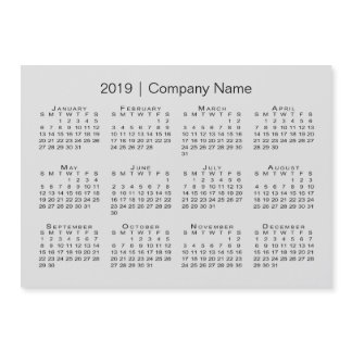 Modern Gray 2019 Calendar with Company Name
