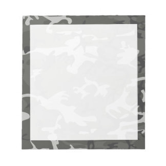 Modern Gray Abstract Camo Camouflage Notepad