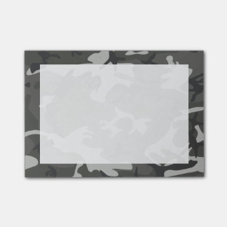 Modern Gray Abstract Camo Camouflage Post-it® Notes