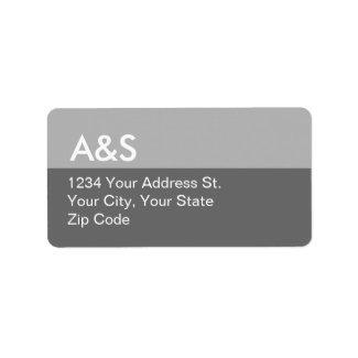 Modern Gray Address Labels label