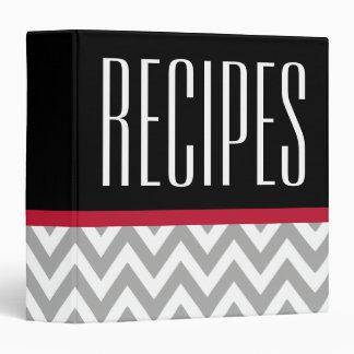 Modern Gray and Black Recipe Binder