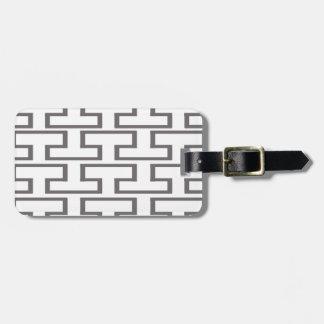 Modern Gray and White Bricks Bag Tag