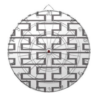 Modern Gray and White Bricks Dartboard With Darts