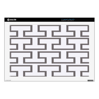 """Modern Gray and White Bricks Decal For 17"""" Laptop"""