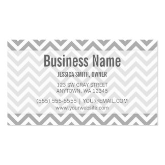 Modern Gray and White Chevron Pattern Double-Sided Standard Business Cards (Pack Of 100)