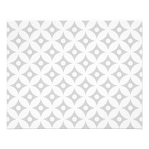 Modern Gray and White Circle Polka Dots Pattern Flyer