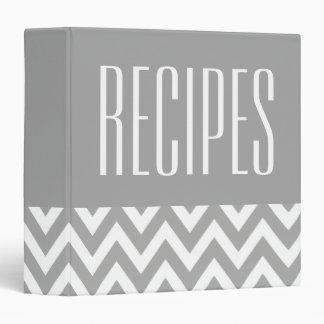 Modern Gray and White Recipe Binder