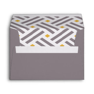Modern Gray and Yellow Pattern Envelope