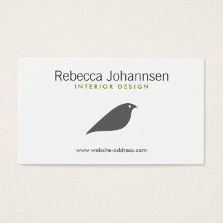 MODERN GRAY BIRD Designer Business Card