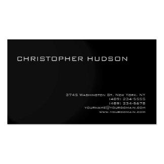 Modern Gray Black Simple Plain Business Card