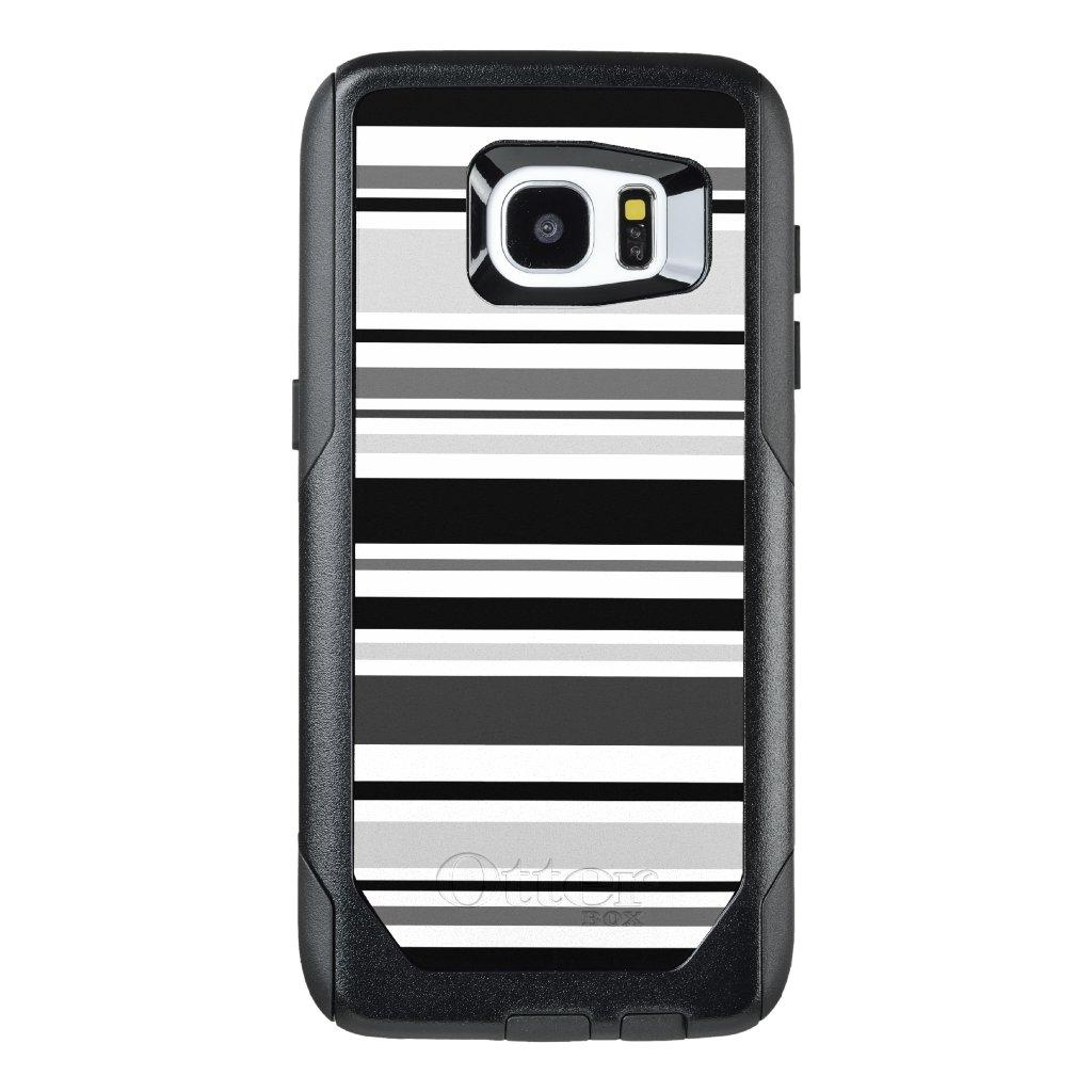 Modern Gray, Black, White Stripes OtterBox Samsung Galaxy S7 Edge Case