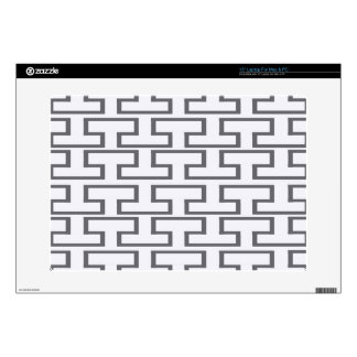 Modern Gray Bricks Laptop Skins