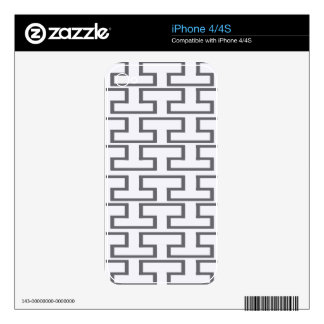 Modern Gray Bricks Skin For The iPhone 4S