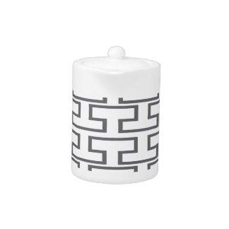 Modern Gray Bricks Teapot