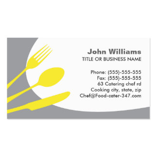 Modern gray catering or chef business card