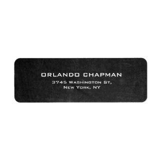 Modern Gray Chalkboard Simple Plain Elegant Label