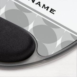 Modern Gray Circles Pattern Gel Mouse Pad