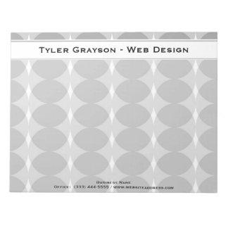 Modern Gray Circles Pattern Notepad