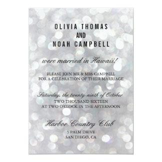 Modern Gray Elegant Post Wedding Reception Card