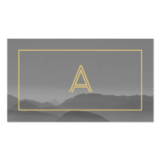 Modern gray landscape photograph cool professional Double-Sided standard business cards (Pack of 100)