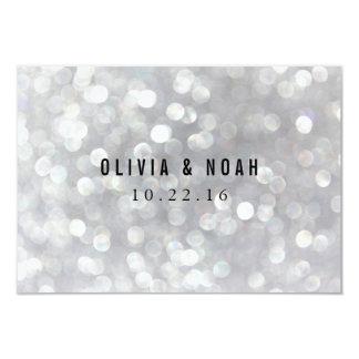 Modern Gray Lights Elegant Wedding Note Cards