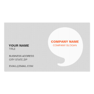 Modern Gray & Orange Design Business Card Template