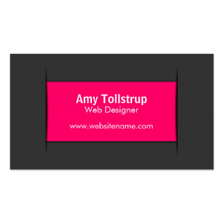 Modern Gray Pink Business Cards