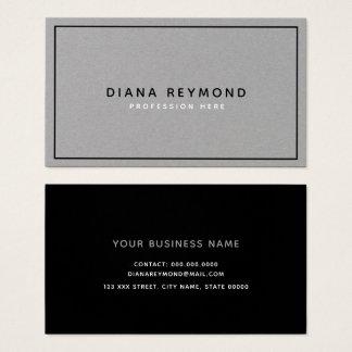 modern gray premium black professional business card